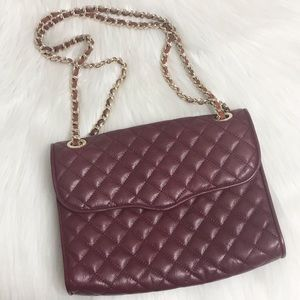 Rebecca Minkoff Large Quilted Affair Burgundy